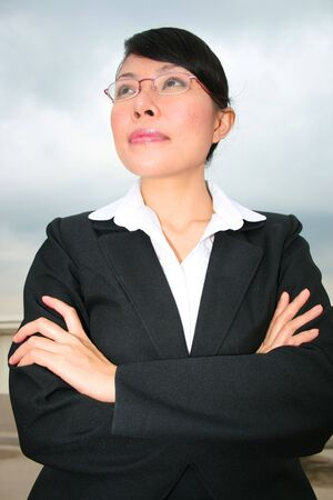 Asian business woman outdoors in Thailand. photo