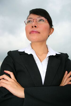 Asian business woman outdoors in Thailand. Stock Photo - 8165060