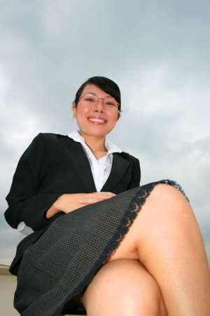 Asian business woman outdoors in Thailand. Stock Photo - 8165055
