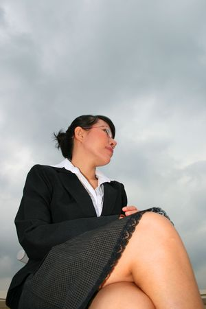 Asian business woman outdoors in Thailand. Stock Photo - 8165054