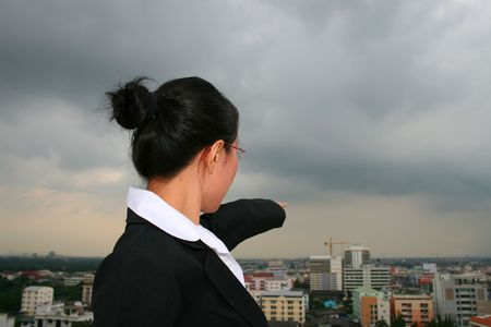 Asian business woman outdoors in Thailand. Stock Photo - 8165123