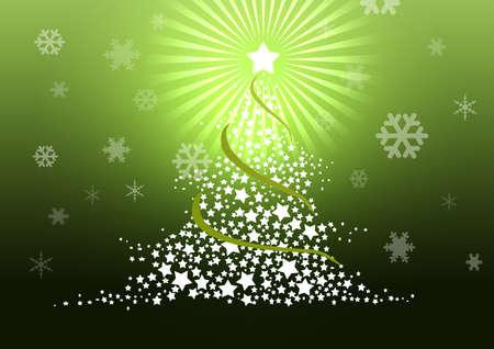 Christmas tree illustration. Stock Illustration - 8329238