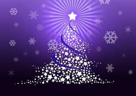 Christmas tree illustration. Stock Illustration - 8329247