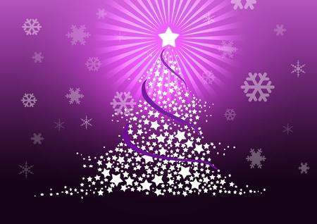 Christmas tree illustration. Stock Illustration - 8329248