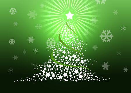 Christmas tree illustration. Stock Illustration - 8329244