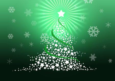 Christmas tree illustration. Stock Illustration - 8329241