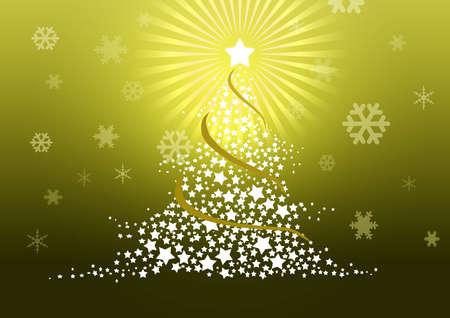 Christmas tree illustration Stock Illustration - 8329242