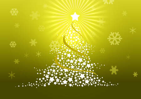Christmas tree illustration Stock Illustration - 8329234