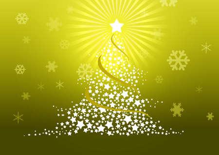 Christmas tree illustration Stock Illustration - 8329234