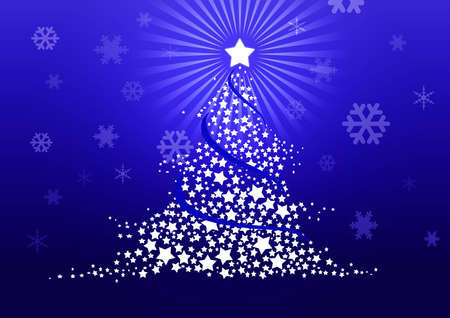 Christmas tree illustration illustration