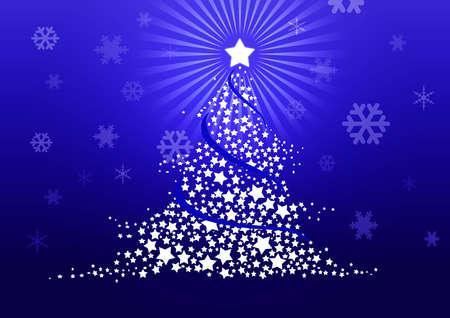Christmas tree illustration Stock Illustration - 8329235