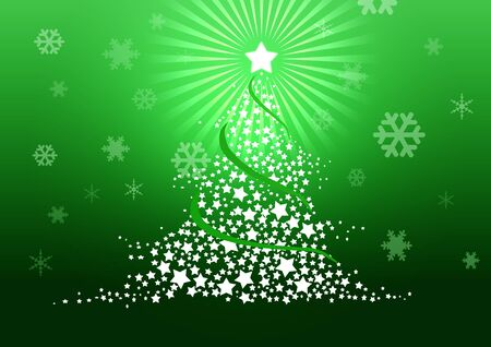 Christmas tree illustration Stock Illustration - 8329239
