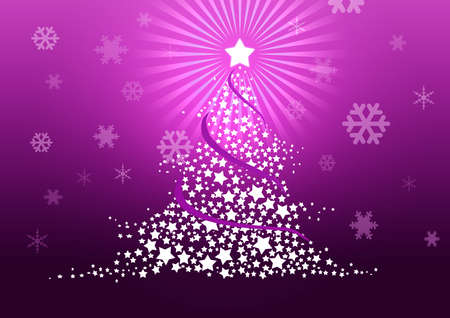 Christmas tree illustration Stock Illustration - 8329237