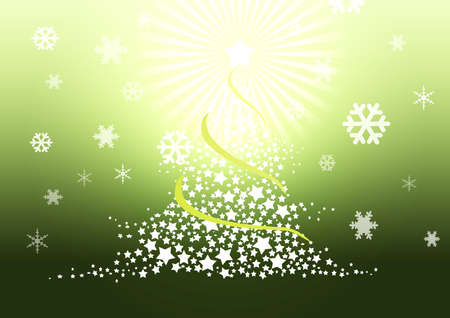 Christmas tree illustration. Stock Illustration - 8329267
