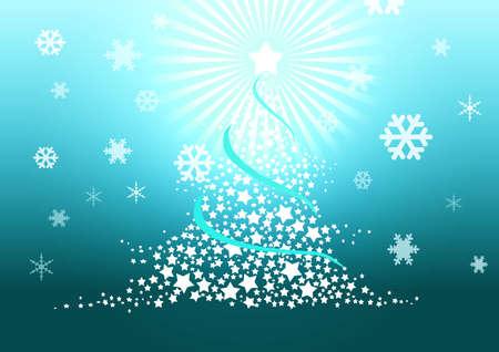 Christmas tree illustration. illustration