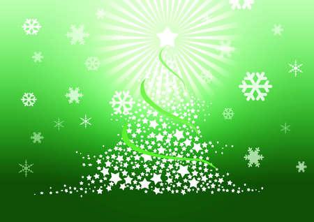 Christmas tree illustration. Stock Illustration - 8329275