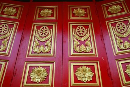 Temple window, Thailand. photo