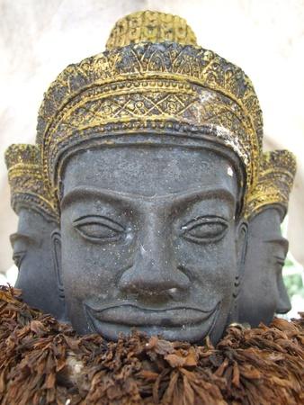 Three headed statue, Thailand. photo