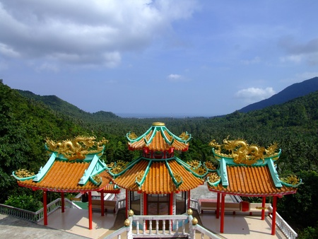 Chinese temple, Thailand. photo