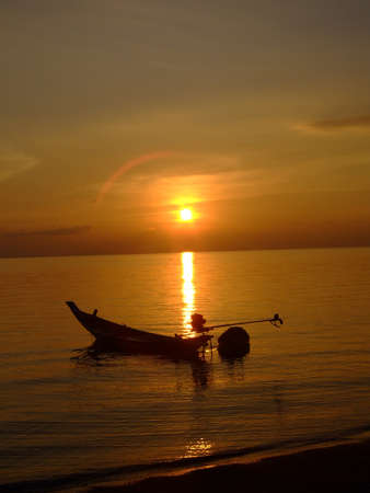 Sunset over a beach in Thailand. Stock Photo - 8694426