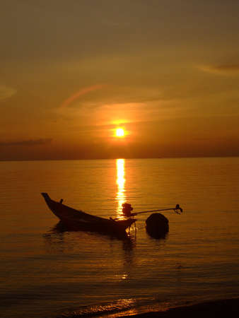 Sunset over a beach in Thailand. Stock Photo - 8694427