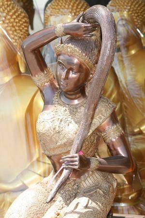 Buddhist angel statue. photo