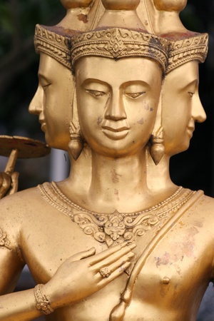 Buddhist statue, Bangkok, Thailand.  photo