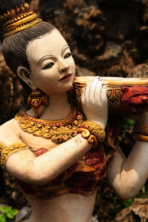 Stone Buddhist statue, Bangkok, Thailand.  Stock Photo - 8611704