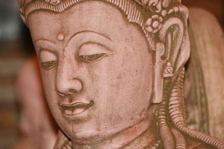 Buddha statue, Bangkok, Thailand.  photo