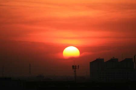 Sunset, Bangkok, Thailand.  photo