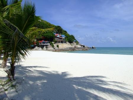 White sand beach, Koh Phangan, Thailand.  photo