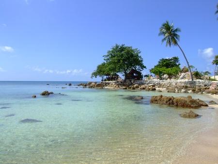 koh: White sand beach in Koh Phangan, Thailand.