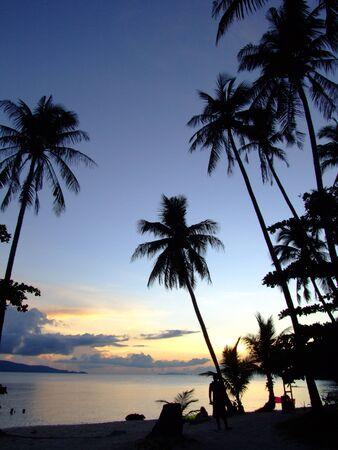 Sunset over the sea, Koh Phangan, Thailand.  Stock Photo - 8533721
