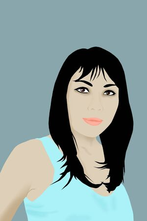 Asian woman illustration. illustration