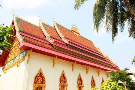 Temple in Vientiane, Laos. photo