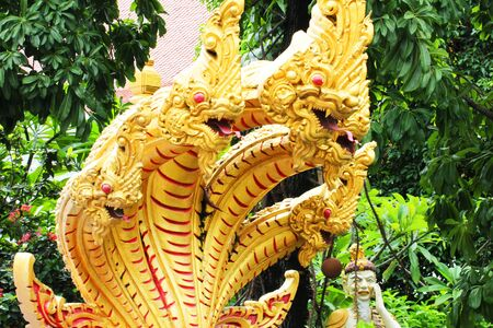 Naga statue, Thailand. photo