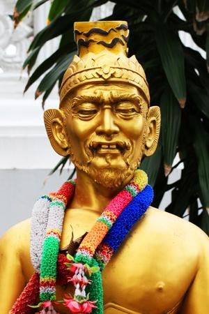 Buddhist temple, Bangkok, Thailand. photo