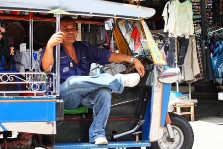 Tuk tuk taxi, Khaosarn road, Bangkok, Thailand.