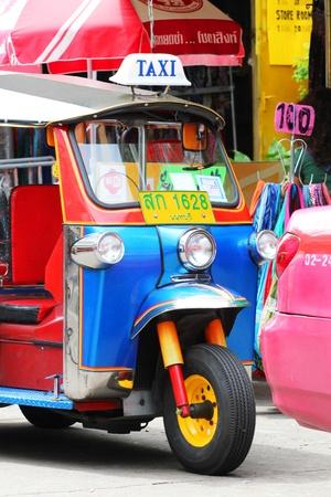 tuk: Tuk tuk taxi, Khaosarn road, Bangkok, Thailand.
