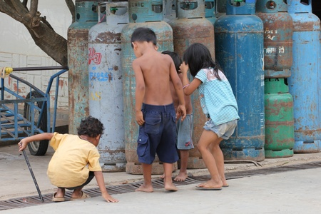 Children in Cambodia. Stock Photo - 10950210