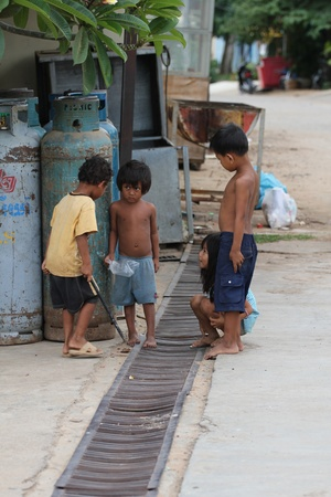phnom phen: Children in Cambodia.
