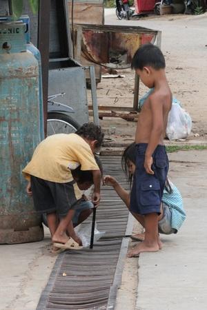 Children in Cambodia.