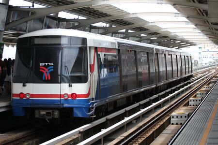 Skytrain station, Bangkok, Thailand.