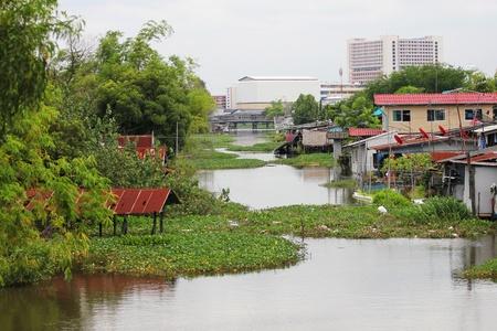 Klong Rangsit in Prathumthani Province, Thailand.