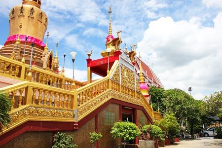 Wat Lak Si Buddhist temple close up, Bangkok, Thailand.
