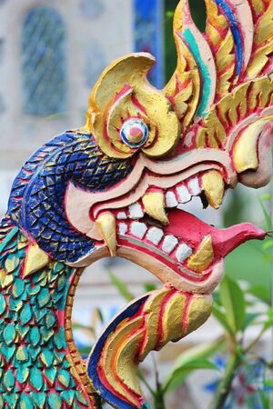 naga china: Naga statue, Issan, Thailand.