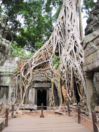 Bayon temple ruins, Cambodia                            photo