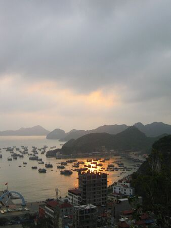 Halong bay and Catba island, Vietnam.                                photo