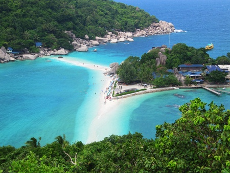 tao:  Beach in Koh Tao, Thailand.                                Stock Photo