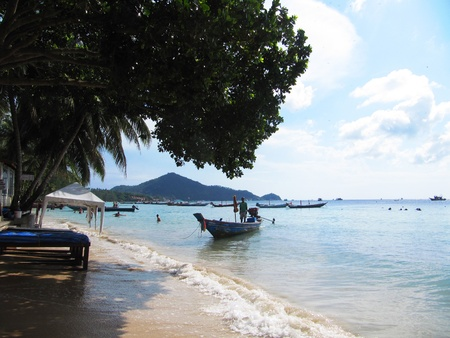 Stock Photo: Beach in Koh Tao, Thailand.